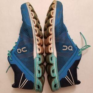 ON Cloud Flow Running Shoes, Blue Aqua, 8.5